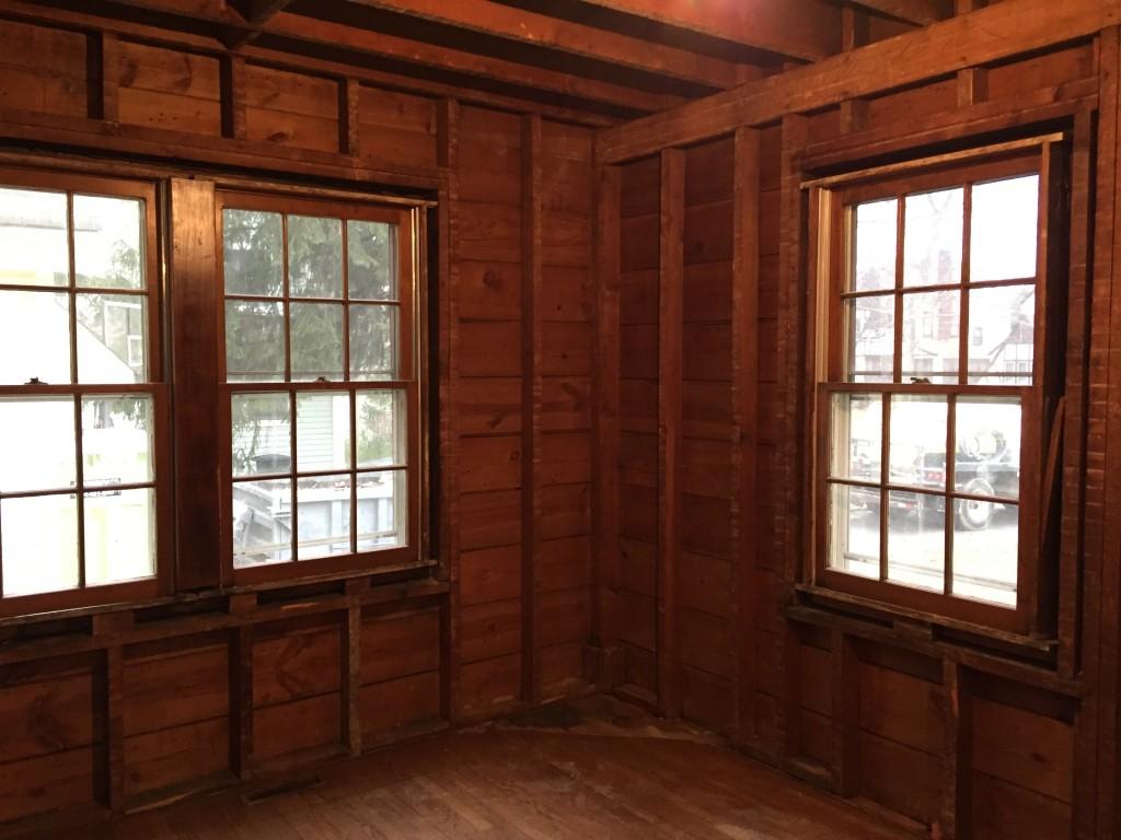 Like living in a log cabin.