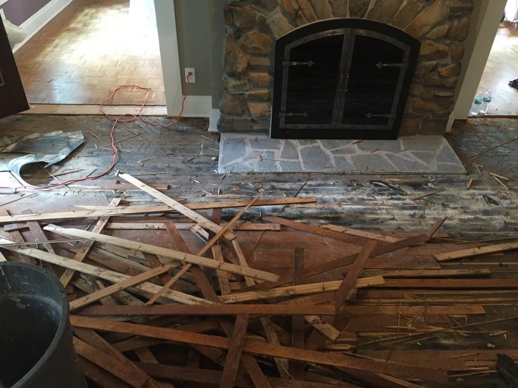 Demolition in progress